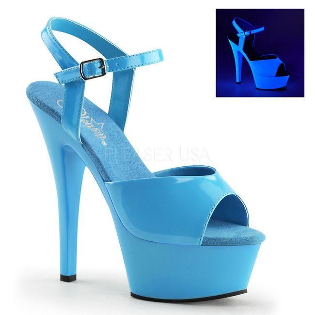 Azul Neon 15 cm Pleaser KISS-209UV Plataforma Salto Agulha