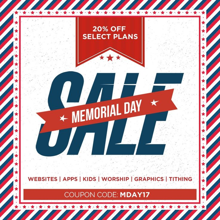 Memorial Day sales can start as early as mid May, such as sales on mattresses and appliances. All Memorial Day sales will be live by the Friday just before Memorial Day weekend through Monday. Plenty of Memorial Day sales will launch earlier and some will last well past 5/28/