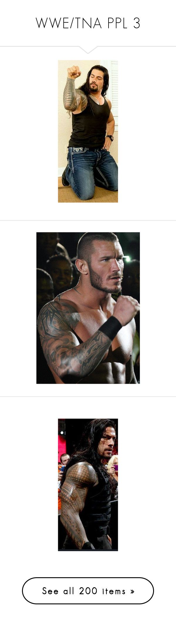 """WWE/TNA PPL 3"" by im-not-weird-your-normal ❤ liked on Polyvore featuring wwe, roman reigns, randy orton, pictures, people, seth rollins, the shield, emma, catch and daniel bryan"