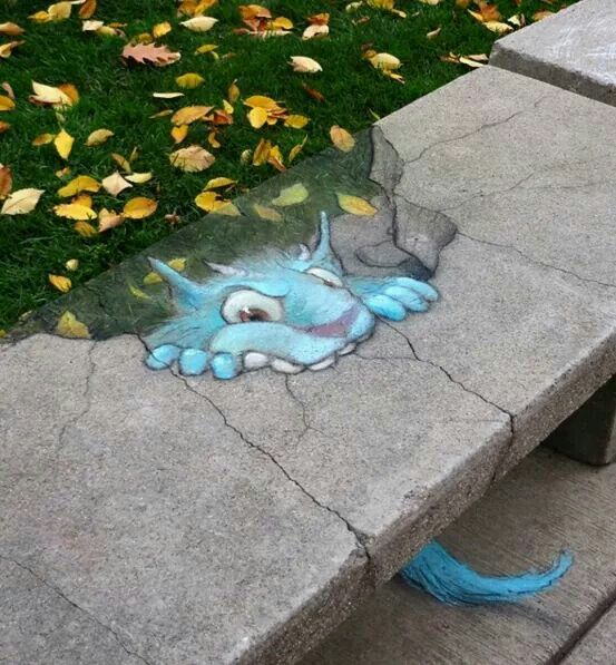 Amazing 3D street art by David Zinn.
