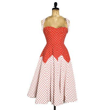 Wow - gorgeous dress: Polka Dots, Dots Pin, Vintage Outfit, Summer Party, Styles Dresses, Men'S Styles, Pin Up Dresses, 60S Polka, The Dots