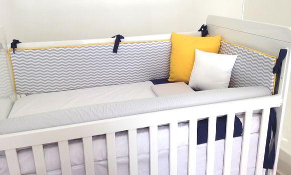 Agora te damos a possibilidade de montar o quarto do seu bebê da maneira que você sonhar!  Estamos aqui para te ajudar a receber seu bebê, desde a maternidade até o quarto aconchegante.    O valor de 350,00 é referente ao conjunto de 3 protetores, sendo uma cabeceira e duas laterais. Os demais produtos são complementares.    3 protetores - 350,00 / Com aplique ou de rolos - 380,00  Rolo para os pés/ Peseira (espuma reta) - 70,00  Saia do berço - 110,00  Colcha - 260,00  Lençol de cima com…