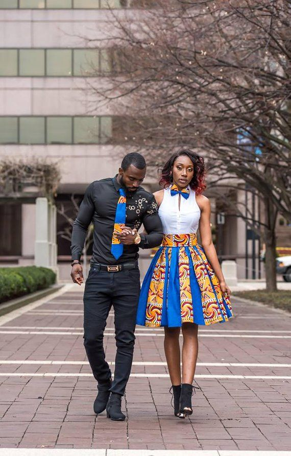 462c6f163d6 Royal Blue Couple Outfit Blue Ankara Matching Couple Outfit African Couple  Clothing His and Hers Ank