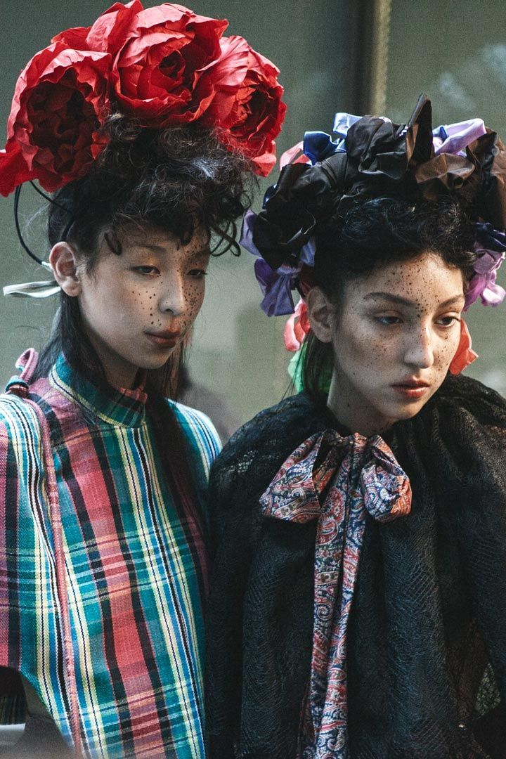 Flower hats for Vivienne Westwood Gold Label AW 2014 2015 by Prudence Millinery