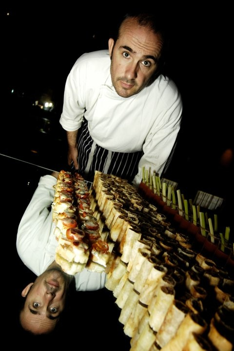 Lee Swords, head chef at #napoleons #casino & #restaurant #owlerton #Sheffield Food Festival 2012