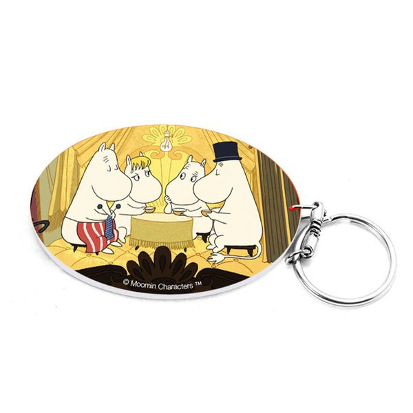 Colourful key chain featuring Moomins at the Riviera.