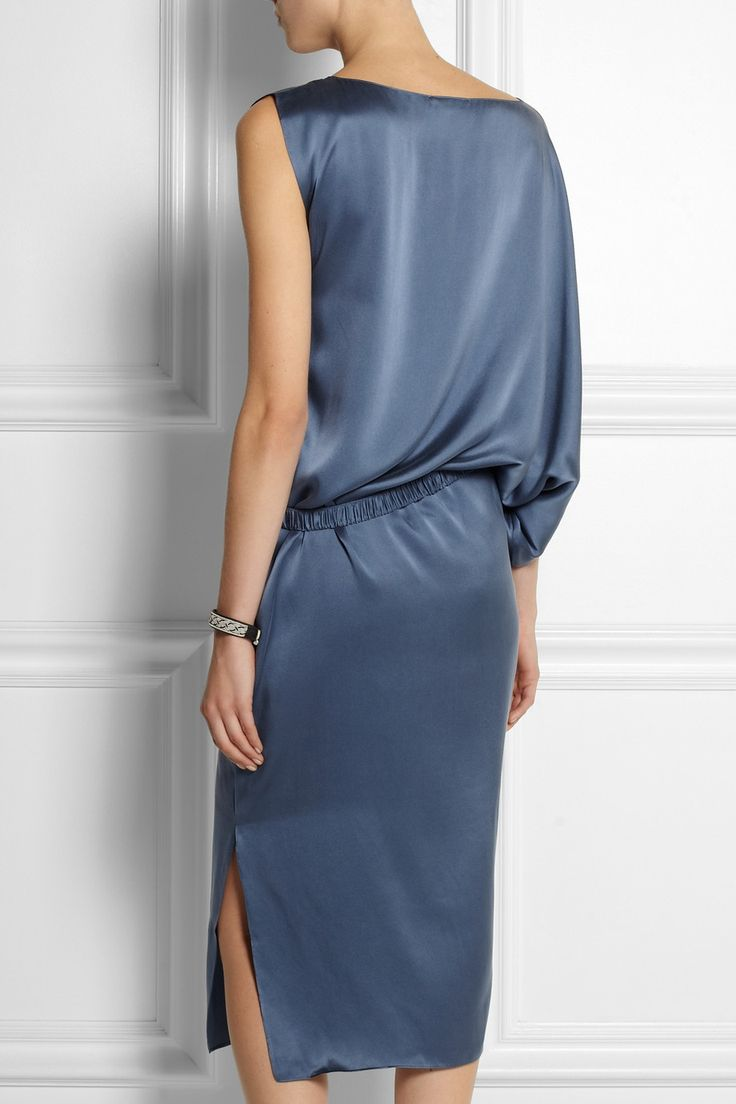 DAY BIRGER ET MIKKELSEN Draped asymmetric silk-satin dress £468.35