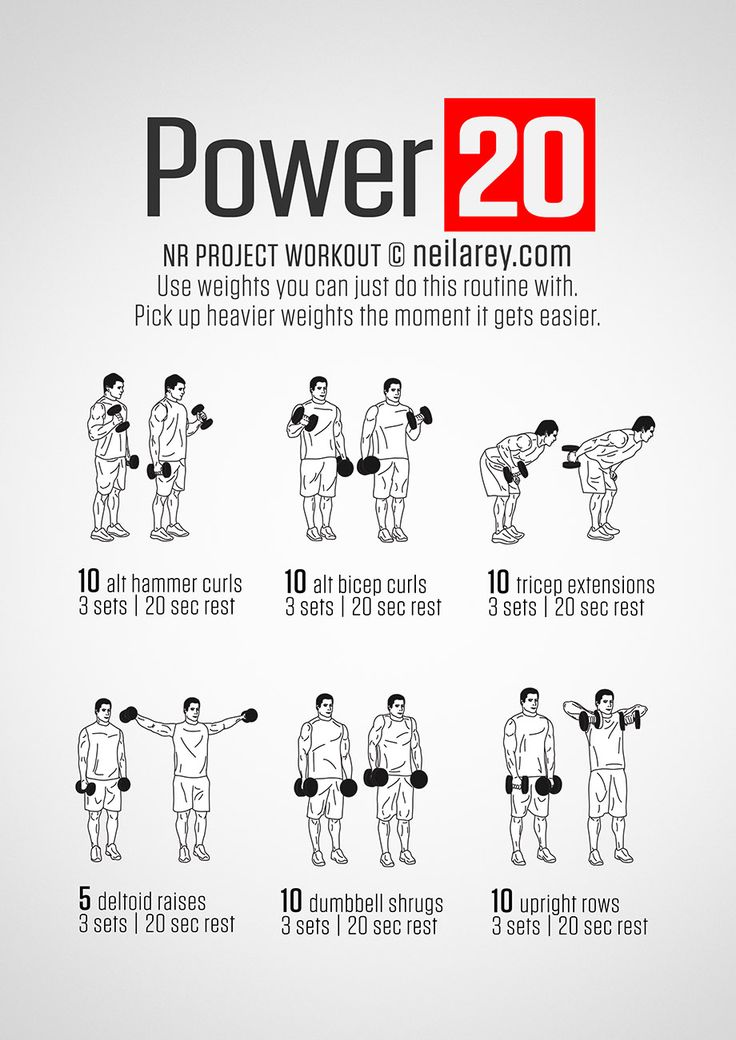 Strong arms Workout.