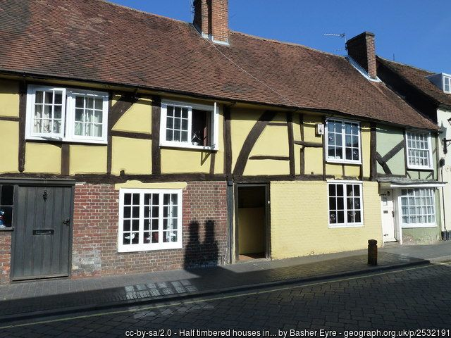 Half timbered houses in South Street
