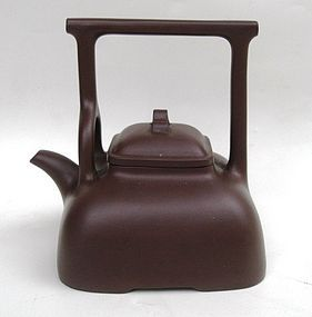 Chinese purple clay yixing teapot. with mark at the base and inside the lid. 14cm wide.14,2cm high. Good condition with two small chipped at the lidChinese Yixing, Clay, Chinese Purple, Yixing Teapots, 14Cm Wide 14 2Cm, Wide 14 2Cm High, Chine Teapots, Teas, Chinese Teapots