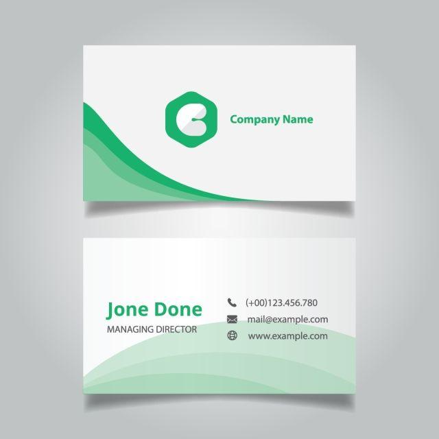 Modern Professional Green Business Card Template Vector Business Card Business Card Template Business Cards Vector Templates