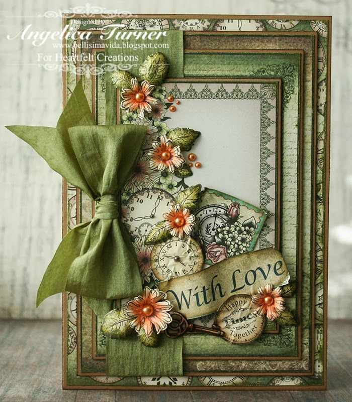 Card made with stamps, dies, and paper from Heartfelt Creations.