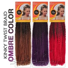 Femi Collection 100% Kanekalon Hair braids Kinky Twist Braid (Ombre Color) - Samsbeauty