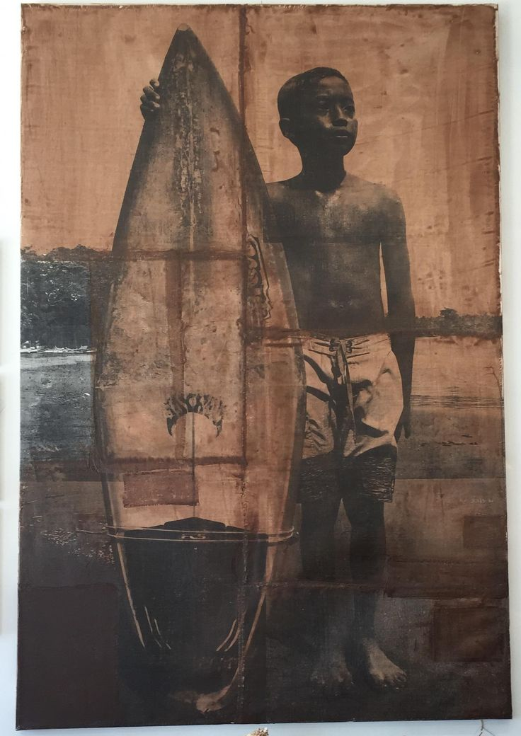 "Andrew Wellman's ""The Little Ones"" art piece is extraordinary and has a great vintage feel. If you love to surf and appreciate Andrew Wellman's art, this piece is for you!"