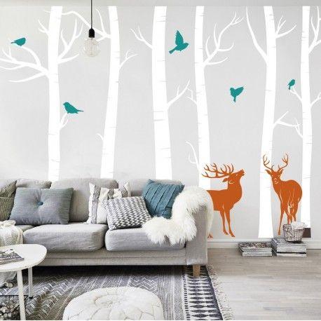 """De muursticker bomen - berken met hertenheeft een afmeting van250 cm H x 380 cm B Uitleg:Noteer je gewenste kleuren in de textvakken onderaan deze pagina en klik op """"Opslaan"""" + Extra informatie + - Elke muursticker maakt jouw kamer gegarandeerd funky! - De muurstickers zijn gemaaktvan hoge kwaliteit kleuren vinyl - Alle blaadjes, takken, dieren, etc worden altijdapart geleverdzodat je een eigen scene kan samenstellen - Wens je toch een andere afmeting of wil je iets toevoegen? Dit…"""