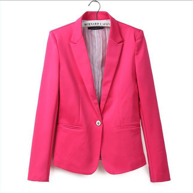 Price Drop $7.37, Buy Global explosion models one buckle female jacket  European style candy-