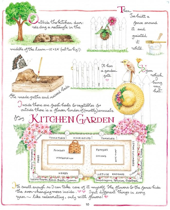 Susan Branch's kitchen garden