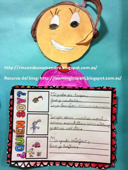 Rincón de una maestra: Descripción de personas