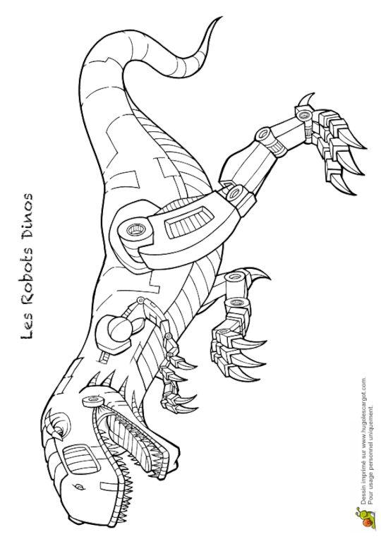 Coloriage dinosaure robot agressif | Coloriage dinosaure, Dessin a colorier, Coloriage robot