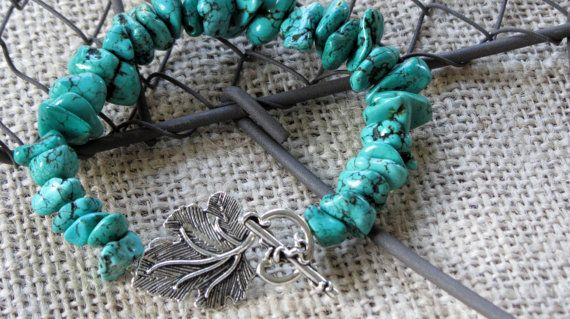 Turquoise Dyed Stone Bracelet by AmarisJewelry on Etsy, $10.00