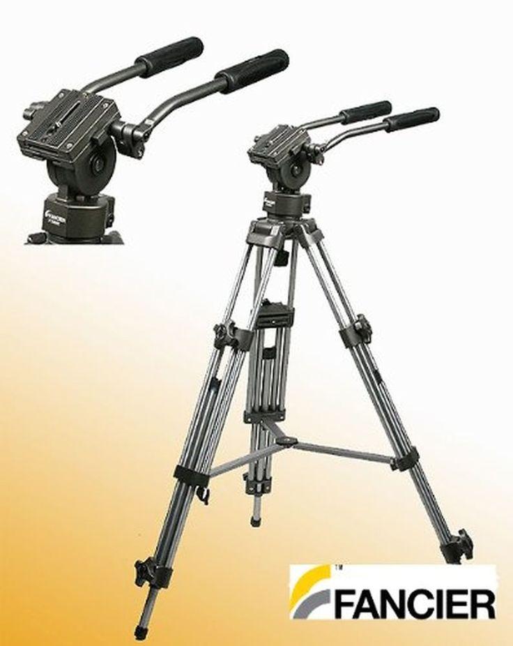 Professional 75mm Video Camera Tripod with Fluid Drag Head FT9901 New #Fancierstudio