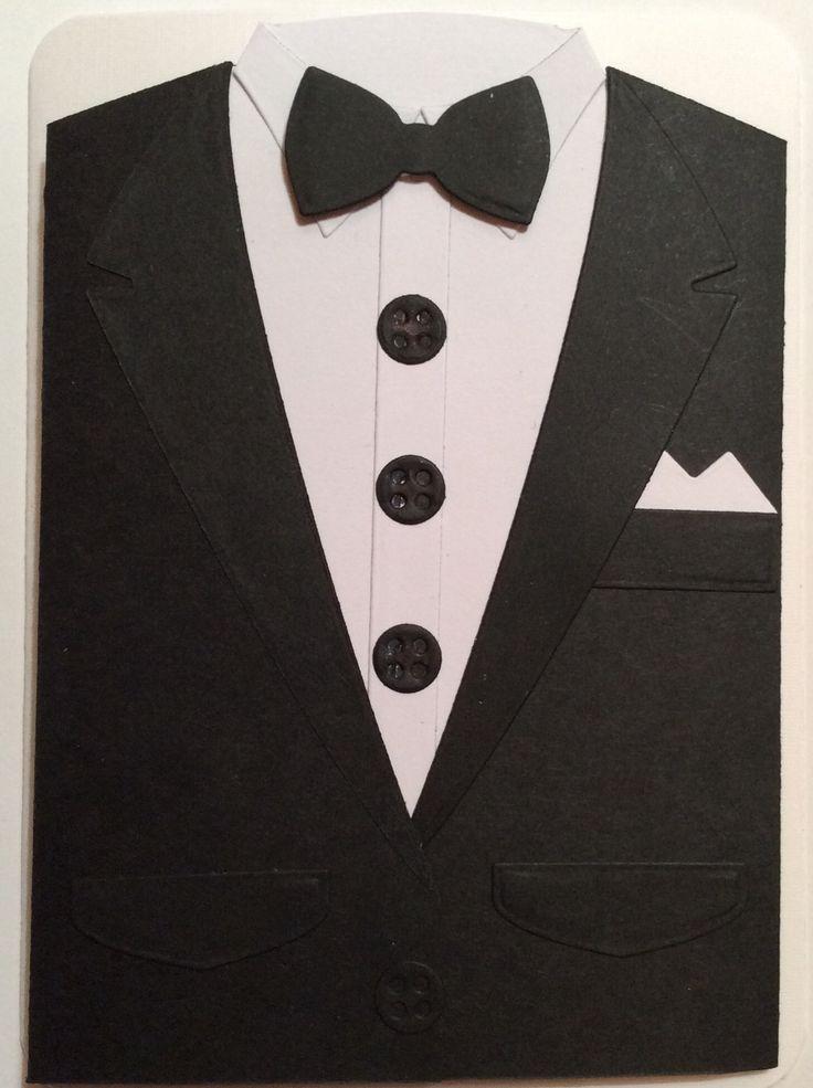 Suit Using X Cut Dies Men Suit Cards Using Xcut Suit