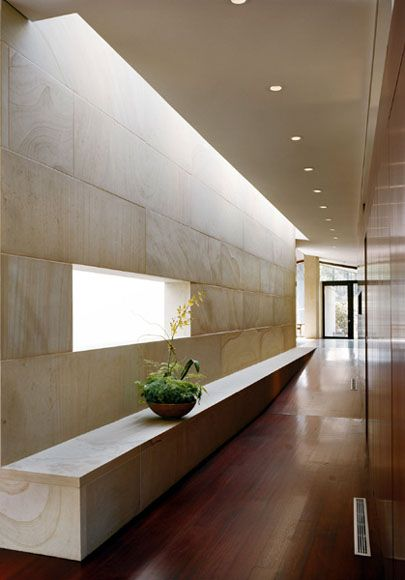 Voorsanger Charlottesville Minimalist Interior Corridor