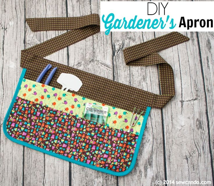 Sew Can Do: Double layer pocket, reversible gardening apron you can make in under 1 hour.  Great for crafting & baking too.