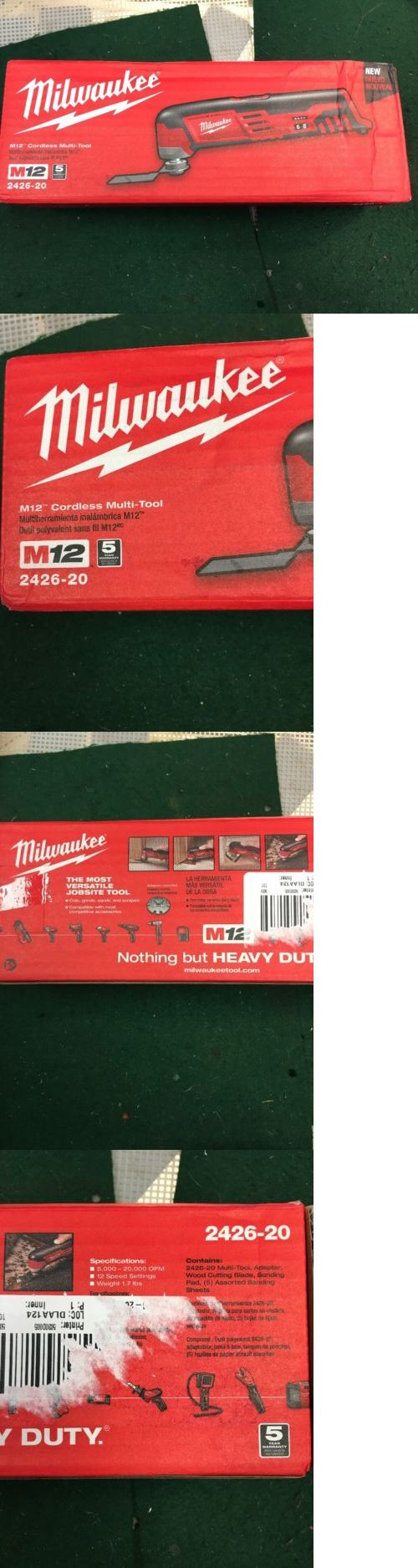 Other Power Tools 632: Milwaukee M-12 Cordless Multi-Tool Model 2426-20 -> BUY IT NOW ONLY: $60 on eBay!
