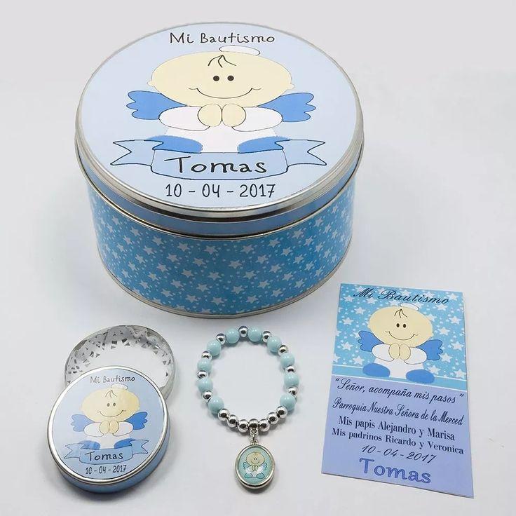 souvenir comunión denarios c/ lata y tarjetas personalizadas