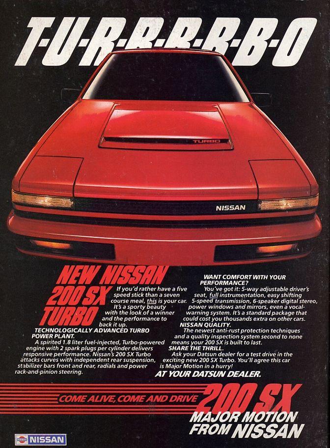 1984 Nissan 200SX Ad #TacomaNissan #NissanLove
