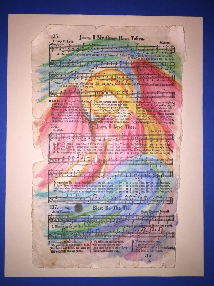 Angel on an old hymn book page