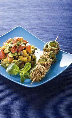 Tortino di ortaggi con spiedini di zucchini al sesamo - Tutte le ricette dalla A alla Z - Cucina Naturale - Ricette, Menu, Diete