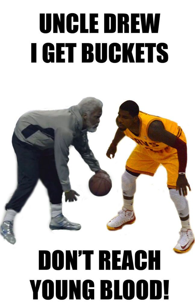 Kyrie Irving T Shirt Jersey Uncle Drew Cavs Cleveland Cavaliers I Get Buckets from $11.86