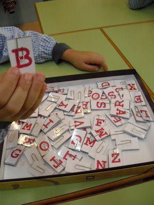 Idees de jocs per al racò de les lletres.