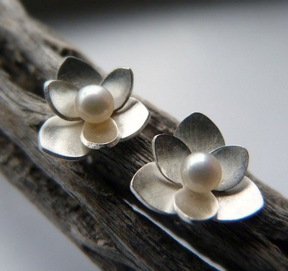 Small Lotus Studs by moiraklime