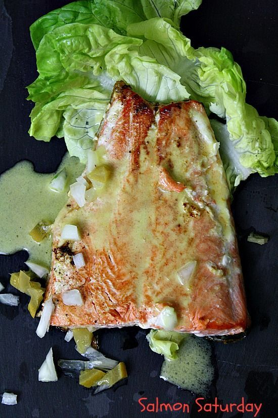 Moroccan Inspired. Pan seared salmon simply seasoned with salt and pepper, gets a lively boost of flavor from the Preserved Lemon Vinaigrette. A quick and easy meal with a very elegant feel and fresh flavors.