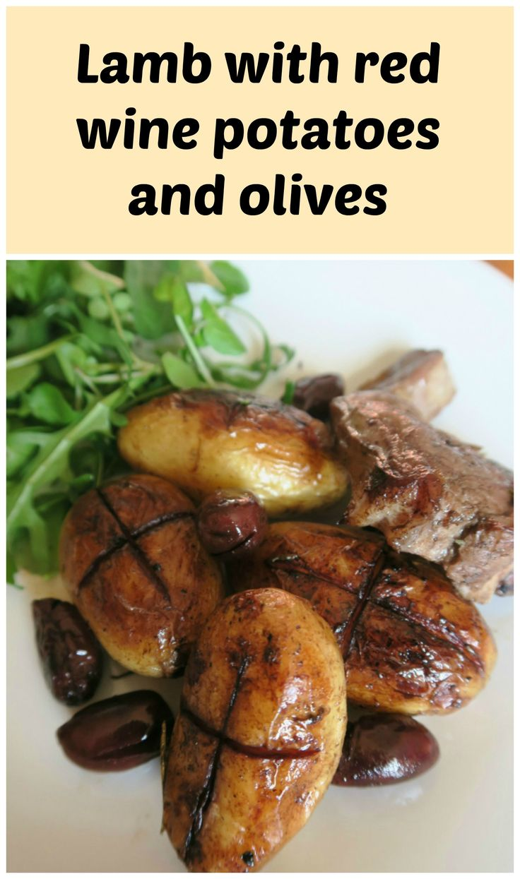 This easy, one pot dish of lamb with red wine potatoes and olives has all the flavours of cyprus. An easy midweek traybake or a romantic meal for two.