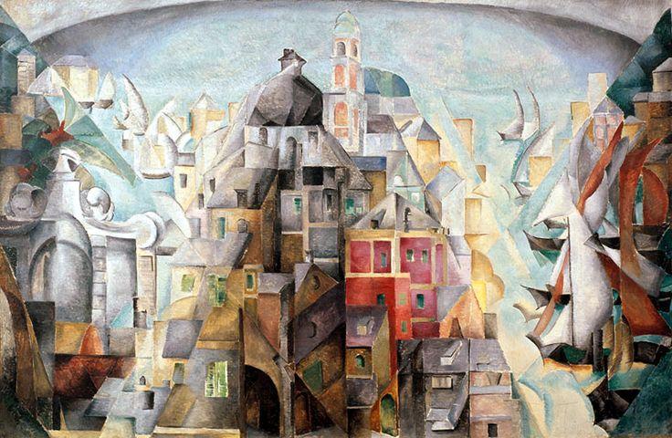 Александра Экстер (1882-1949) - Дьеп. 1912-1913. Музей Людвига, Кельн
