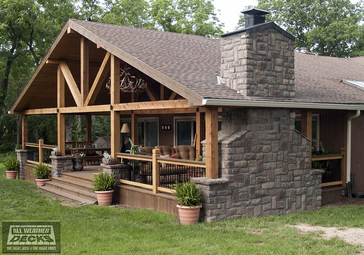 Pin By Mark Treas On Ryland Addition Deck Fireplace