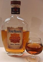 Four Roses is a Kentucky Straight Bourbon Whiskey brand owned by the Kirin Brewery Company of Japan. The brand was established in 1888. The trademark was probably named for company founder Rufus Mathewson Rose, his brother Origen, and their two sons, although it is somewhat unclear, as several different stories are told about where the name Four Roses comes from.