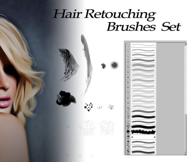 Hair Retouch : HAIR RETOUCHING BRUSHES Photoshop Tutorials Pinterest