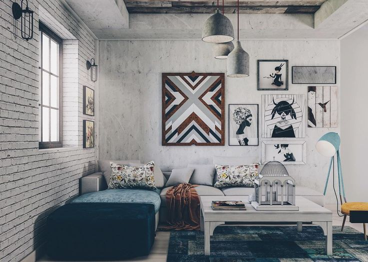 Industrial Living Room By Badiearchitects White Interior Product