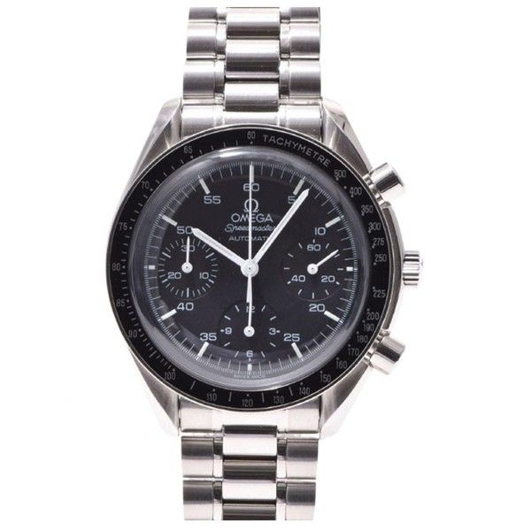 Pre-owned Omega Speedmaster Watch ($2,000) ❤ liked on Polyvore featuring men's fashion, men's jewelry, men's watches, black, mens watches, mens watches jewelry, mens stainless steel watches, pre owned mens rolex watches and omega mens watches