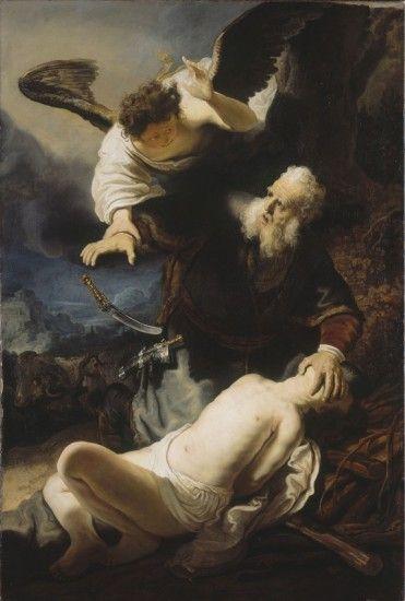 El sacrificio de Isaac y su autor es Rembrand.