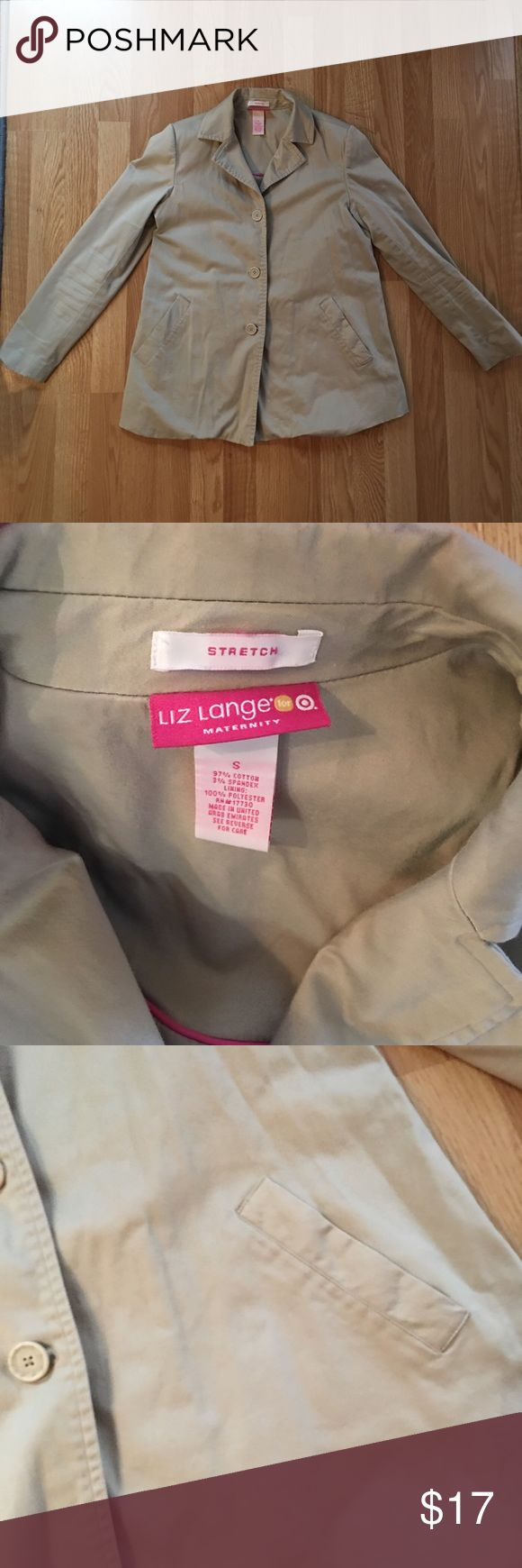 Super cute Maternity blazer / jacket Liz Lang Maternity blazer. Cream colored and super flattering layering piece! Has very small shoulder pads. Size small. Stretchy and very comfortable. Liz Lange Jackets & Coats Blazers