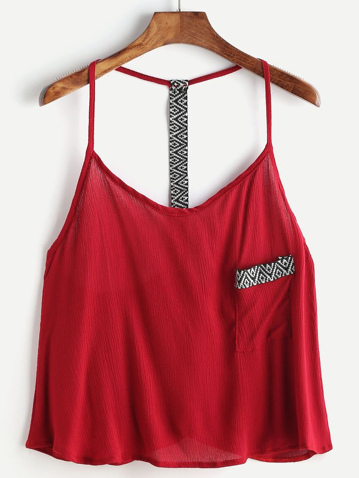 Shop Burgundy Embroidered Tape Detail Cami Top online. SheIn offers Burgundy Embroidered Tape Detail Cami Top & more to fit your fashionable needs.