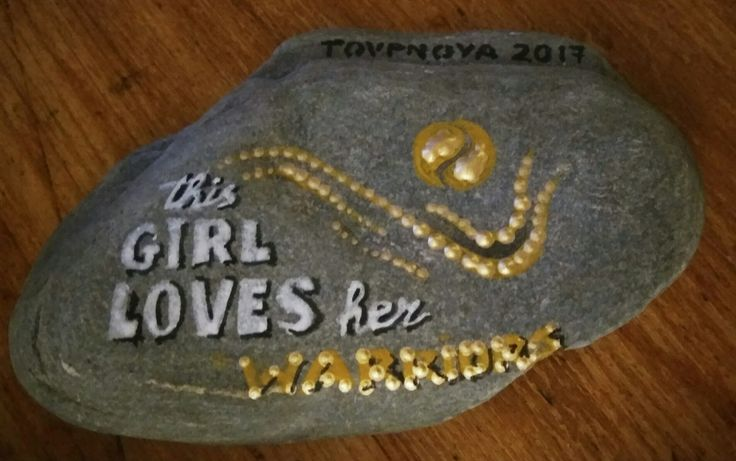 Stone art by Athina Alexopoulou Pappa Tennis prize