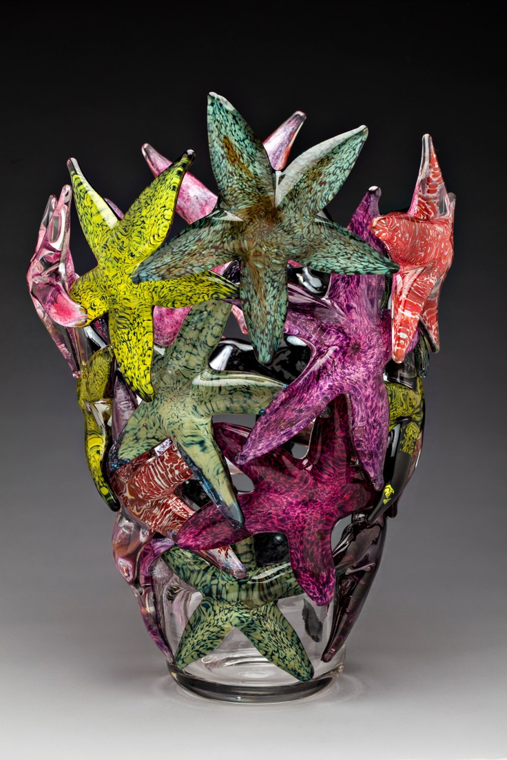 Starfish Cluster, glass art sculpture by gibbonsglass on Etsy