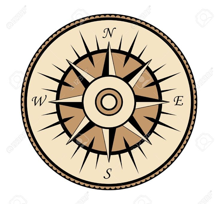 Compass Symbol Isolated On White For Design Royalty Free Cliparts ...